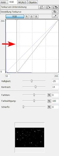 DPP Gradationskurve Schwarzpunkt