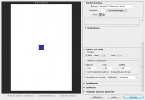 Druckvorschau in Photoshop mit 300dpi