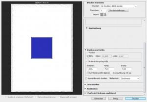 Druckvorschau in Photoshop mit 72dpi