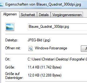 Dateigröße 300dpi