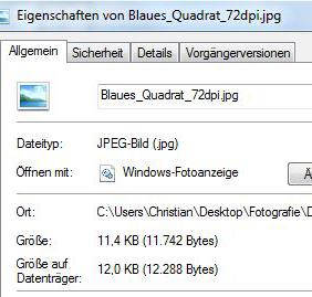 Dateigröße 72dpi